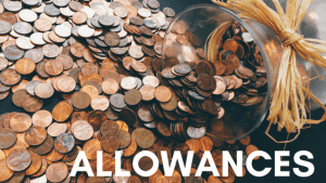 allowance money out of a jar